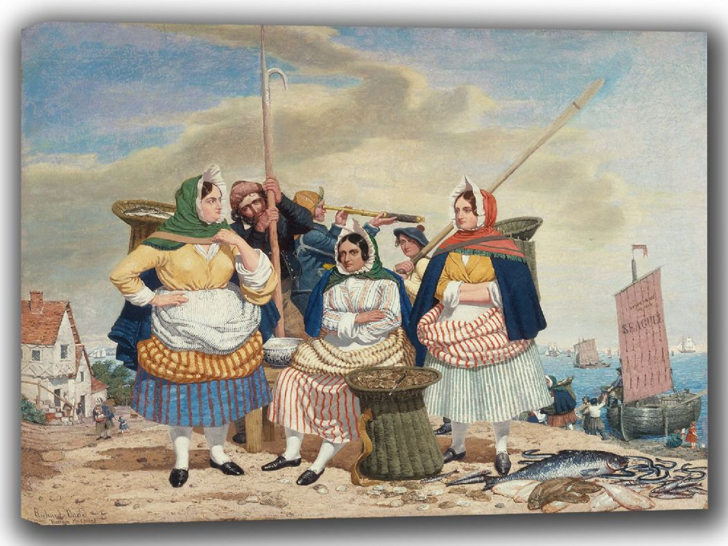 Dadd, Richard: Fish Market by the Sea. Fine Art Canvas. Sizes: A4/A3/A2/A1 (002683)